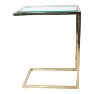 Mid-Century Modern Style Gold Metal Side Table For Sale