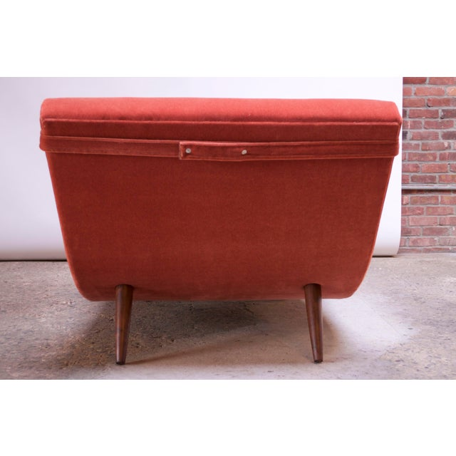 """Adrian Pearsall for Craft Associates """"Wave"""" Chaise Lounge in Coral Mohair For Sale In New York - Image 6 of 13"""