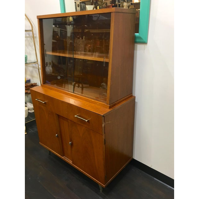 Mid-Century Modern Mid Century Modern Craddock China Cabinet Hutch For Sale - Image 3 of 12