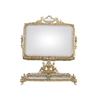 Viennese Rock Crystal and Silver Gilt Mirror