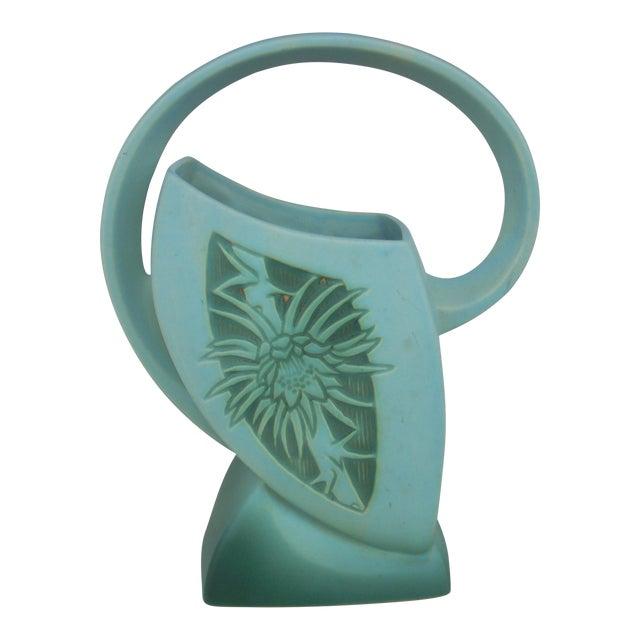Roseville Silhouette Basket Vase - Image 1 of 4