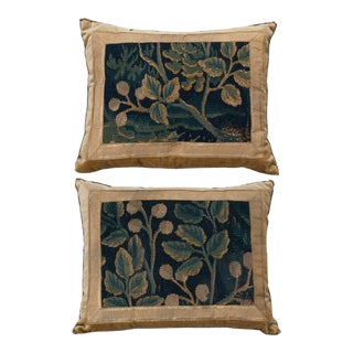 17th Century Antique Textile Pillows by B.Viz Designs - a Pair For Sale