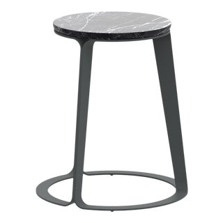 Peel Side Table Carnico in Graphite For Sale