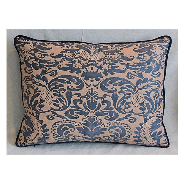 "Cotton Italian Mariano Fortuny Corone Feather/Down Pillows 24"" x 18"" - Pair For Sale - Image 7 of 11"