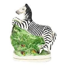 Antique Staffordshire Zebra Figure
