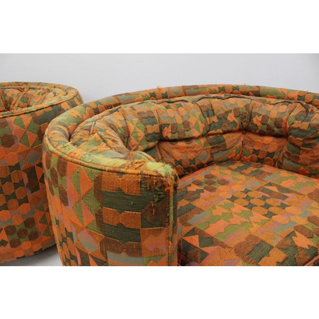 Textile Mid Century Modern Flair -Bernhardt Pair of Upholstered Chairs For Sale - Image 7 of 13