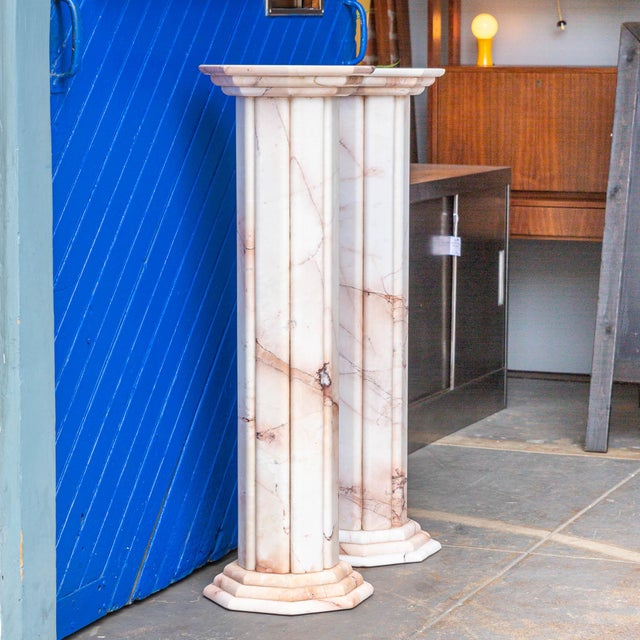 Lovely! Vintage White and Pink Deco Style Columns – A Pair! These columns are perfect for displaying plants or any kind of...