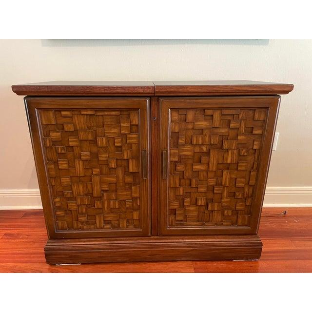 Vintage Brutalist Dry Bar Cabinet For Sale - Image 12 of 12