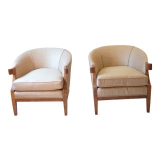 Baker Mid-Century Palladio Club Chairs - a Pair For Sale