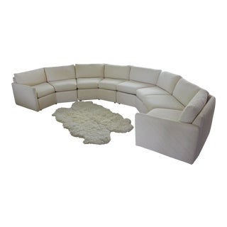 1980s Bernhardt Flair Octagonal Cream Sectional Sofa