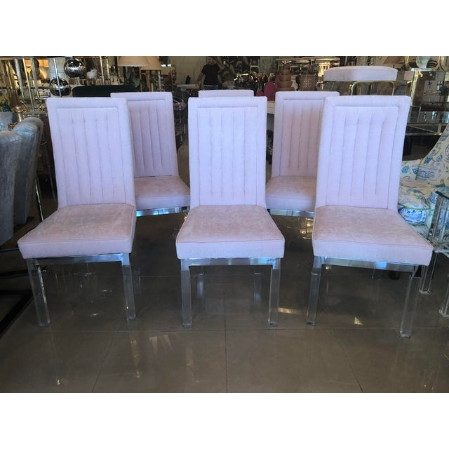 Charles Hollis Jones Lucite Dining Chairs - Set of 6 For Sale - Image 11 of 12