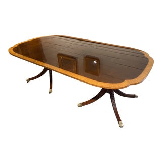 Baker Banded Extension Dining Room Table For Sale