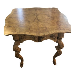Late 20th Century Louis XV Style Game Table For Sale