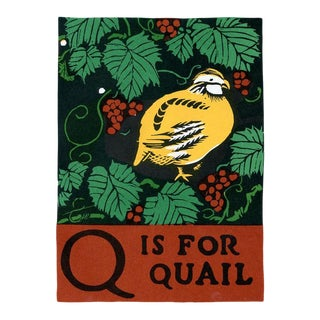 Q Is for Quail, 1920s Lithograph, Children's ABCs For Sale