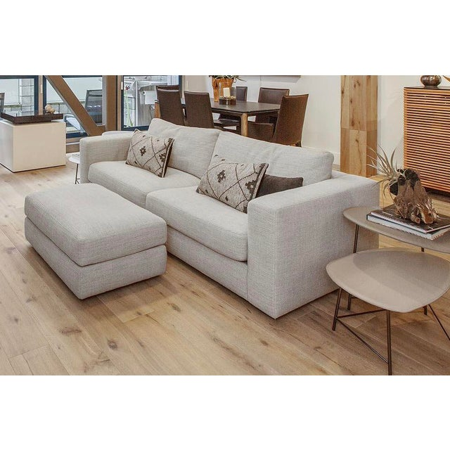 "2010s Modern Design Within Reach ""Reid"" Sofa and Ottoman For Sale - Image 5 of 6"