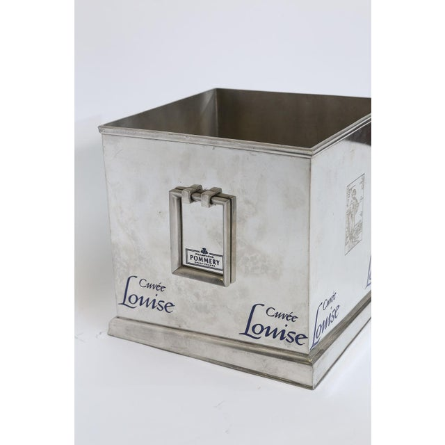 Mid 20th Century Pommery Cuvee Louise Square Champagne Cooler For Sale - Image 5 of 9