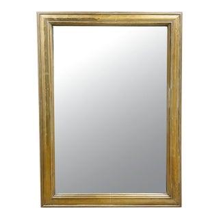 19th Century French Brass Bistro Mirror For Sale