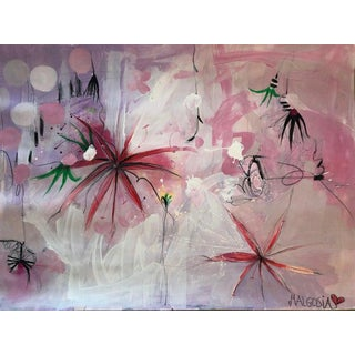 Contemporary Abstract Painting on Paper, Lili Ocean Part 2 For Sale