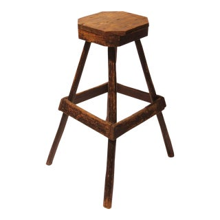 Antique Hickory Stool For Sale