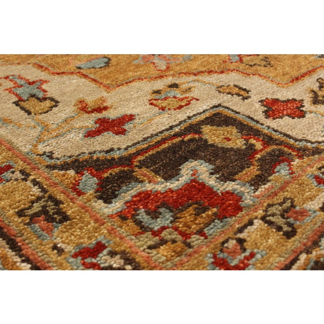 "Serapi Hand-Knotted Indian Rug - 5'0"" x 6'10"" - Image 2 of 3"
