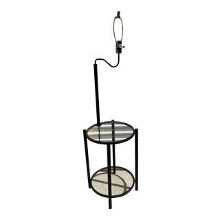1960s Vintage Italian Black Iron Mid Century Modern Art Deco Floor Lamp For Sale