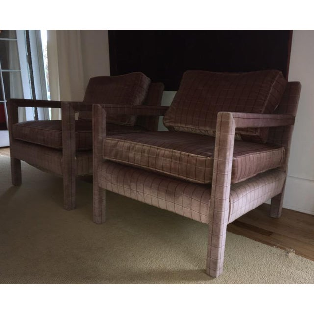 1970s Vintage Parsons Style Arm Chairs- A Pair For Sale - Image 12 of 13