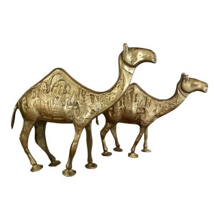 Vintage Brass Camels - a Pair