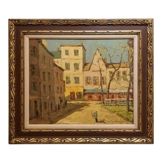 Post-Impressionist Painting of Paris, France by Fred Korburg For Sale