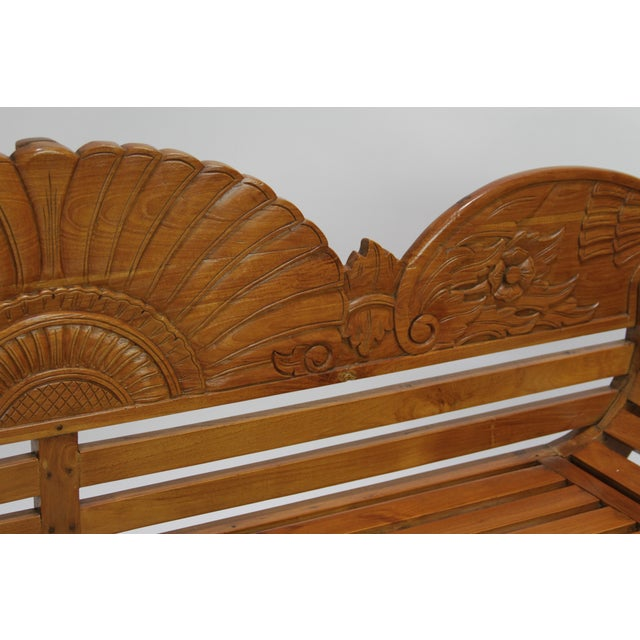 Colonial Java Carved Bench - Image 7 of 7