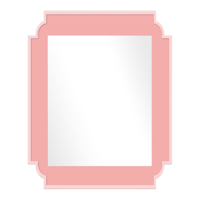 Fleur Home x Chairish Camp Mirror in Pink Punch, 24x36 For Sale