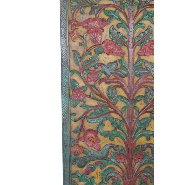 "The Door Panel frame comes from India made by artisan craftman. Kalpavriksha, the tree of life, also meaning ""World Tree""..."