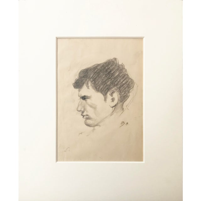 Portrait Drawing of a Man by Balthus Paris, Circa 1950 - Image 2 of 5