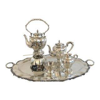 1960s Traditional Sterling Silver Mexican Tea/Coffee Set - 5 Piece Set For Sale