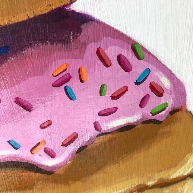 Pop Art Strawberry Donuts by Nicole Newsted For Sale - Image 3 of 7
