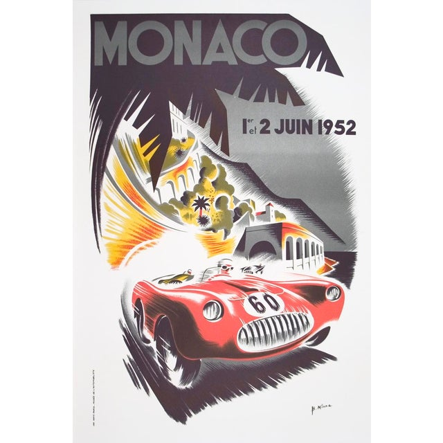 1985 Monaco Grand Prix Poster by B. Minnie - Image 1 of 2