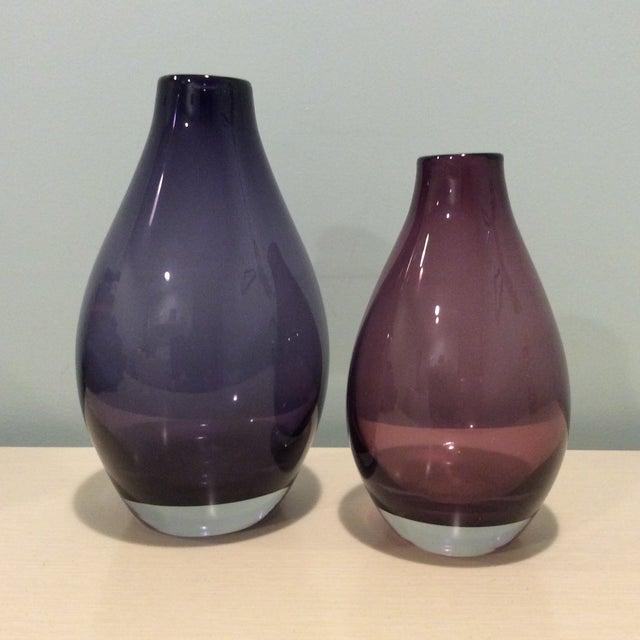 Crate Barrel Purple Amethyst Como Vases A Pair Chairish