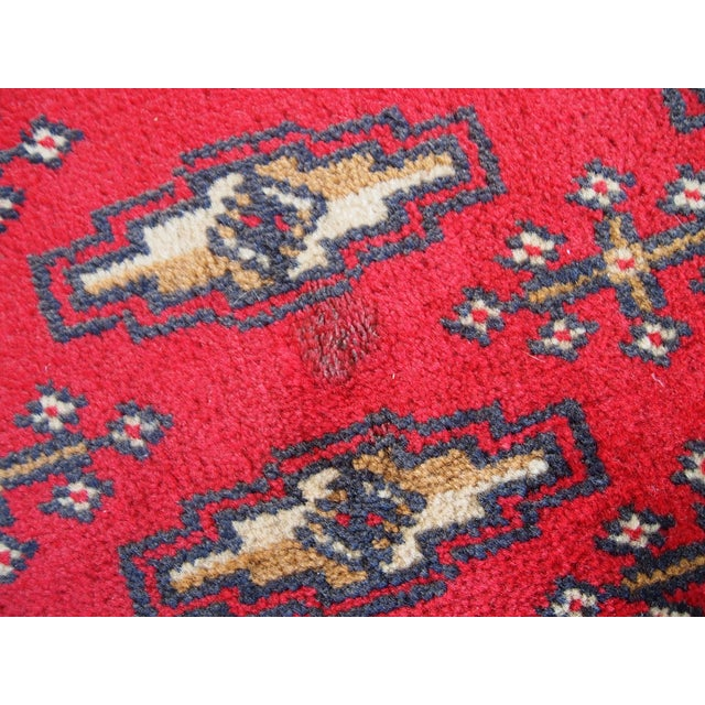 1970s Hand Made Vintage Turkoman Tekke Rug - 2' X 4.4' For Sale In New York - Image 6 of 7