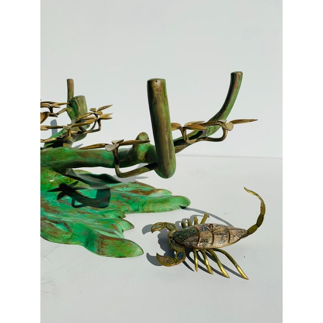 Willy Daro Brass Bonsai Tree Coffee Table Base For Sale - Image 9 of 13