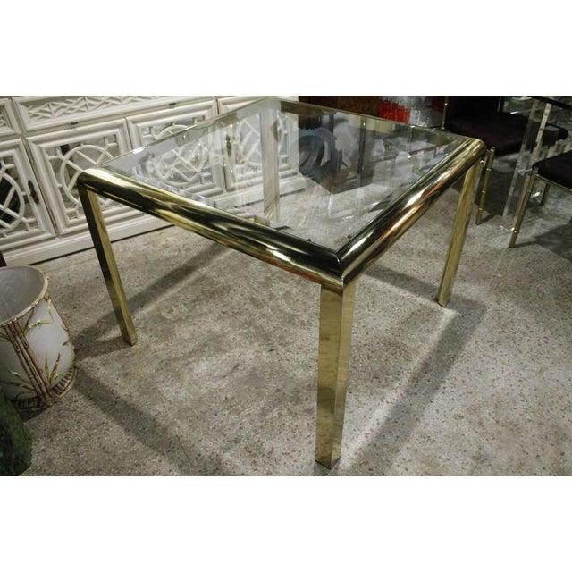Mid 20th Century Vintage Brass Dining Table Game Table For Sale - Image 5 of 10