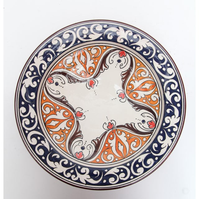 Atlas Navy & Orange Ceramic Plate - Image 2 of 3