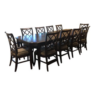Transitional Lane Furniture Dining Set - 11 Pieces For Sale