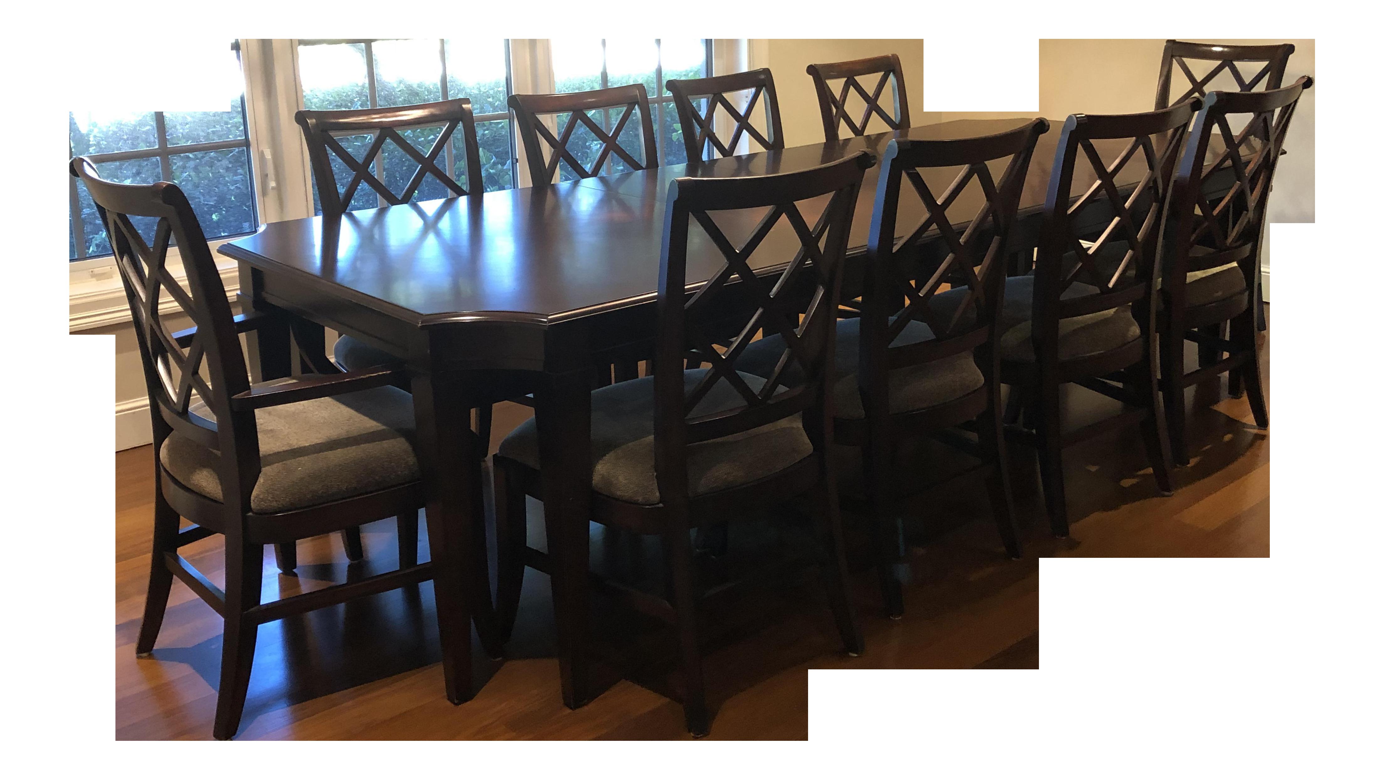 Transitional Lane Furniture Dining Set   11 Pieces