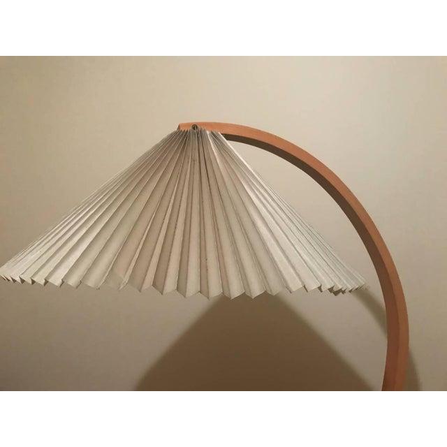 Danish Modern Bentwood Maple & Iron Floor Lamp - Image 2 of 4