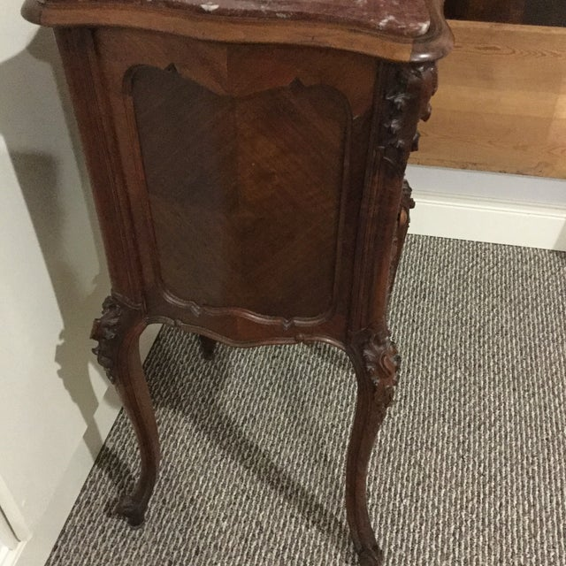 Antique French Country Marble Top Nightstand For Sale - Image 5 of 10