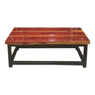 Red Cedar Industrial Design Coffee Table