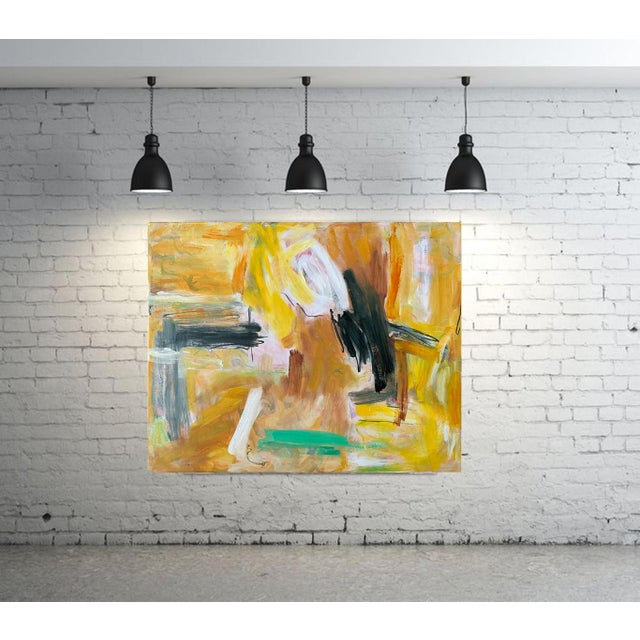 """""""Eagle's Nest"""" by Trixie Pitts XL Painterly Abstract Expressionist Oil Painting For Sale - Image 11 of 13"""