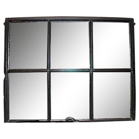 Iron Framed Mullion Mirror - Image 1 of 5