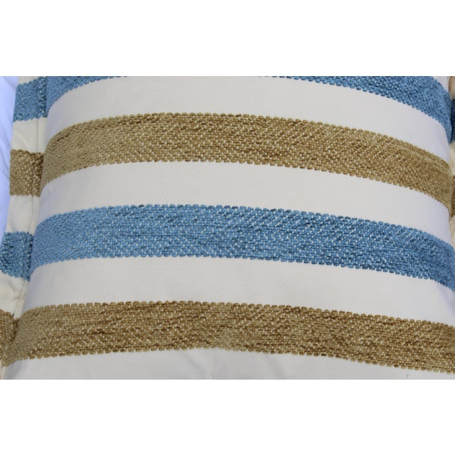 Contemporary Striped Silk DownContemporary Striped Silk Down Pillows - a Pair For Sale - Image 10 of 13