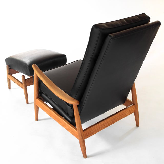 1960s Vintage Milo Baughman Recliner and Ottoman Lounge Chair for James Inc. For Sale - Image 5 of 12