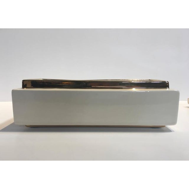 Metal Jaru of California Ceramic Decorative Box For Sale - Image 7 of 10